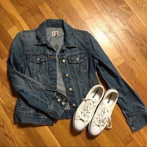 Old Navy blue jean vintage looking jacket